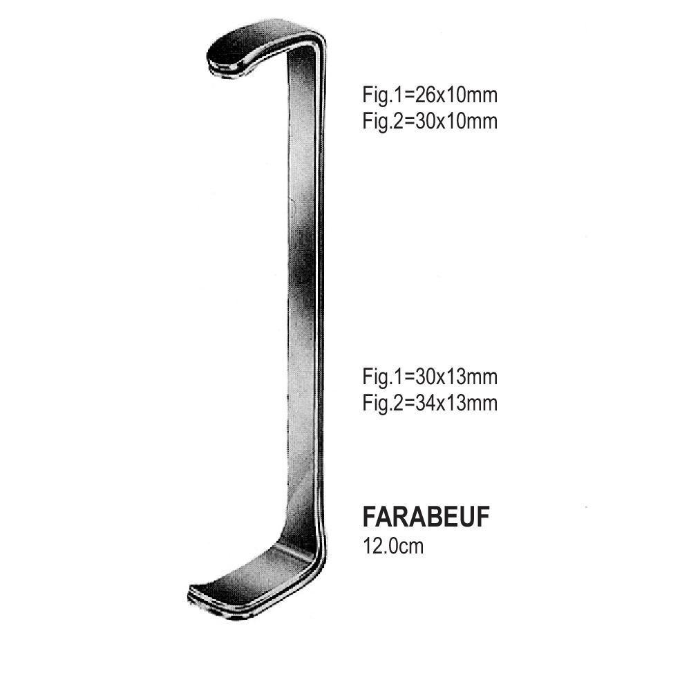 RETRACTORS FARABEUF  12.0cm   (SET)