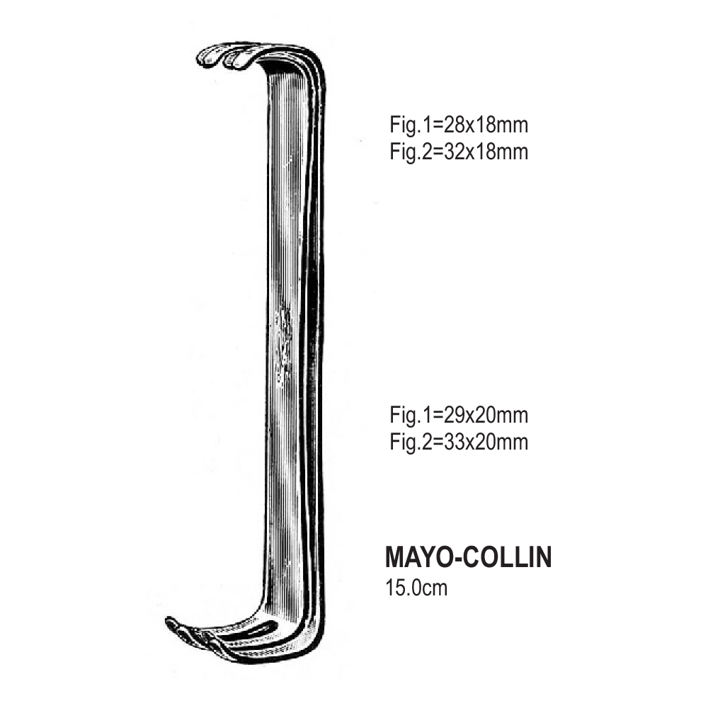 RETRACTORS MAYO-COLLIN  15.0cm   (SET)